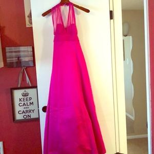 David's Bridal Dresses - Hot pink Bridesmaid dress